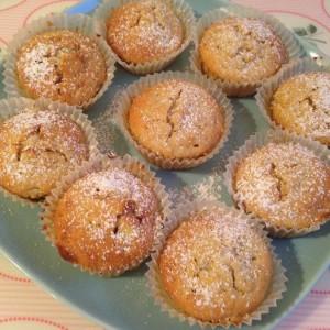 Muffins mit Apfel und Marzipan