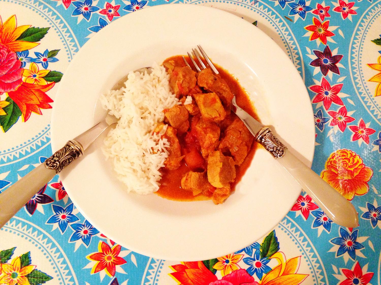 Indisches Fleischcurry