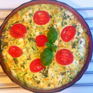 Zucchini-Frittata mit Feta