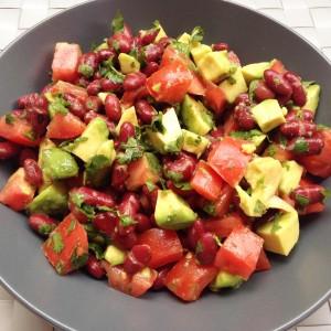 Bohnen-Avocado-Salat
